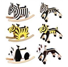 Newmakers Zebra Tiger and Panda Rockers and Rollers