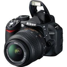 Nikon Digital SLR Camera Kit with & VR Lenses and Deluxe Accessory Kit Nikon D3100, Nikon Slr Camera, Nikon Digital Camera, Digital Slr, Digital Cameras, Dslr Cameras, Focus Camera, Camera Hacks, Best Camera For Photography