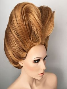 Drag queen, pageant ready, wig, updo, Hair Sculpture
