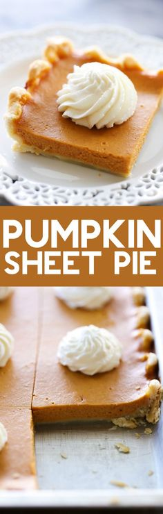 "This PUMPKIN SHEET PIE is so easy and feeds a crowd! It is thinner than traditional Pumpkin Pie but has that a same great flavor! This is a fall ""must-try""!"