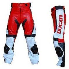 edfd7f14b42 Ducati Biker Leather Pant Ducati Motorcycle Trouser Biker Leather