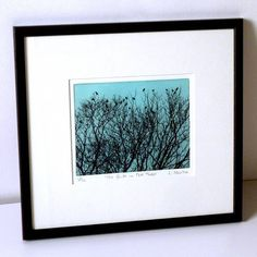 the birds in the trees solar etching by luella martin | notonthehighstreet.com