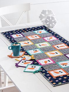 Make One Piece or the Whole Set for Yourself or to Give! Happy snowmen grace this set of kitchen accessories that is sure to make everyone smile. There's a table runner, place mats and matching coasters that all feature cheerful snowmen smiles. They're easy to make and fun to use all winter long. Select colorful …