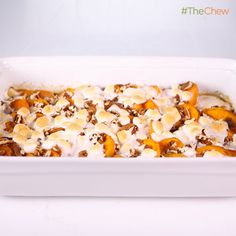 Candied Sweet Potatoes with Pecans Recipe - Carla Hall - The Chew Candied Sweet Potatoes, Sweet Potato Pecan, Sweet Potato Casserole, Potato Caserole, The Chew Recipes, Pecan Recipes, Cooking Recipes, Veggie Recipes, Yummy Recipes