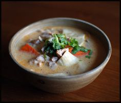 Coconut soup is one of my very favorite things in the world.