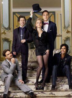 "Johnny Galecki, Simon Helberg, Kaley Cuoco, Jim Parsons & Kunal Nayyar as seen in ""The Big Bang Theory""... Johnny looks so hot!"