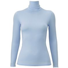 UNIQLO HEATTECH Polo Neck Long Sleeve T-Shirt ($20) ❤ liked on Polyvore featuring tops, t-shirts, turtleneck t shirts, uniqlo t-shirts, longsleeve tee, turtleneck tops and blue long sleeve tee