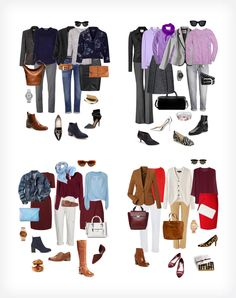 The Most Popular Ensembles of 2014 - YLF - great wardrobe color combos