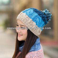 Nueva moda Color Mix bola de la piel de mujer gorro de lana de ... e47fda8d03c