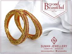 Enhance your royal look with the most different #antique #gold_jewellery from Suman jewellery.  #antique_jewellery #bangles #gold #beauty