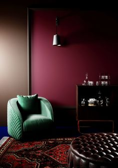 Color Trends 2016 to your Home Interior design trends. Gorgeous rich dark colors in this living room. Home Design, Home Interior Design, Interior Architecture, Interior Decorating, Color Interior, Interior Plants, Luxury Interior, Luxury Furniture, Design Design