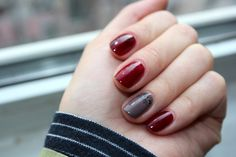 Essie Fall Collection, Burgundy and Grey Nails