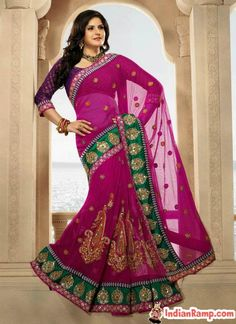 Zarine Khan in Transparent Indian Sarees Bollywood Collection 2013