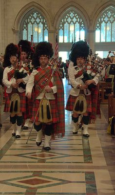 Kirkin' O' the Tartan, St Andrews Society of Washington,D.C. at the National Cathedral Washington, D.C.
