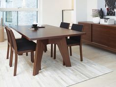 "Item Name:  Randers Dining Table  SKU:  S27 SM13/W  Dimensions:  39.4"" W x 69.3"" D x  Price:  $995.00"