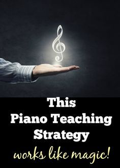You only need your hands to make this piano teaching strategy work like magic with your students #PianoTeachingTips