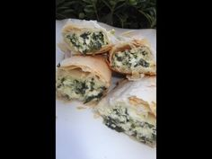 THREE CHEESE STRUDEL WITH SPINACH - YouTube