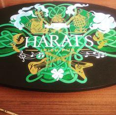 Balanceboard, indoboard, hand drawn, Irish pub, harat's, deck