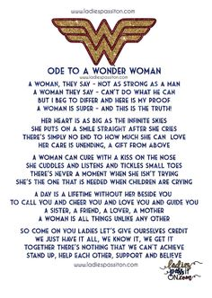 Something a little different for you today ladies! A little poem I wrote to remind us how fantastic we are and a chance to win some WONDER WOMAN greeting cards. Wonder Woman Kunst, Wonder Woman Art, Superman Wonder Woman, Wonder Women, Wonder Woman Comic, Wonder Woman Birthday, Birthday Woman, 35th Birthday, Happy Birthday