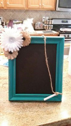 Chalkboard made from cheap picture frame