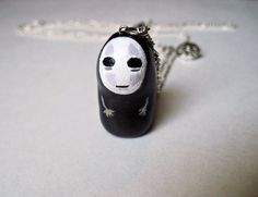 Spirited Away No Face Polymer Clay Charm