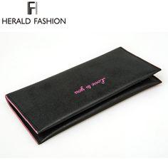 Herald Fashion Long Design Women Wallet Candy Color PU Leather Ladies Purse Envelope Clutch Vintage Girls' Wallet New Arrival