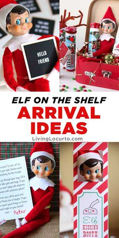 CUTE Elf on the Shelf Arrival Ideas! Printables and fun ideas direct from the North Pole to wow your kids this Christmas. #elfontheshelf #christmas #printables
