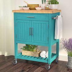 Great for Matus Kitchen Cart Butcher Block kitchen dining furniture sale from top store Butcher Block Kitchen Cart, Rolling Kitchen Cart, Kitchen Storage Cart, Kitchen Island Cart, Kitchen Islands, Butcher Blocks, Kitchen Organization, Teal Kitchen Cabinets, Kitchen Supplies