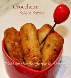 Crocchette pollo e patate ricetta facile.Croccanti fuori con un cuore morbido.Idea geniale per far mangiare la carne ai bimbi,consiglio la cottura in forno