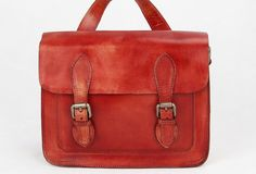 Women girl leather Satchel Bag crossbody Shoulder Bag Handmade red vintage leather Satchel Bag crossbody Shoulder Bag for girl women