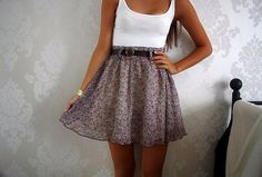 Skirt + plain tank