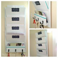 {DIY Mail Organizer & Key Station!}maybe foam core with duck tape covers with paper