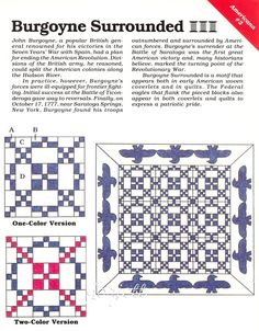 burgoyne surrounded quilt pattern - Google Search