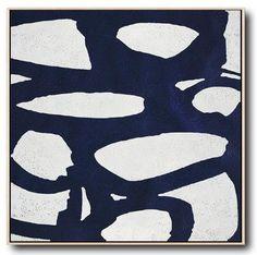 Navy Blue Minimalist Painting #NV151A