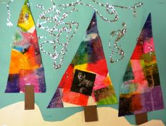 For the Love of Art: 2nd Grade: Winter Trees