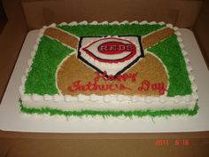 Batter Up! - Cincinnati Reds baseball cake themselves!