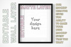 Black frame mockup CREATOR 8x10 inch Graphics Welcome and thank you for stopping by!This is a digital product. Placing an order you get an archi by CGmockup