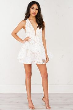 OH BELLA LACE SKATER DRESS(Get the Look at www.shopakira.com) #dress  #white #skaterdress #lacedress #cutedress #lace #short #OOTD #OOTN #outfits #SpringFashion #Style #Fashion #ShopAkira