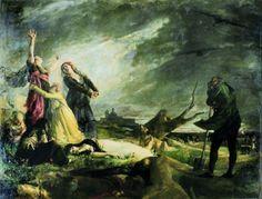 Vicente Palmaroli Y Gonzàlez (Spanish artist, 1834-1896)...The Shootings of May 3rd in Mountain Principe Pio