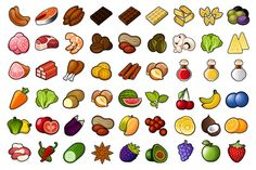 Check out 72 Food Icons Set by in8finity on Creative Market