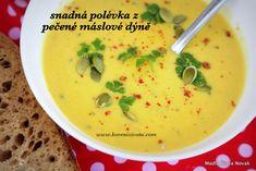 Snadná polévka z pečené máslové dýně Cheeseburger Chowder, Food And Drink, Soup, Soups