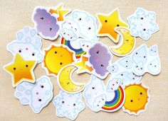 Cute Calender Weather Designs Sticker Flakes by BeagleCakesArt, $5.00