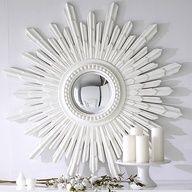 DIY:: Stunning White Starburst Mirror