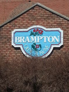 A sign behind one of the beautiful gardens that the City of Brampton puts in each year.. I used to live in Olde Town...a wonderful area with great neighbours.
