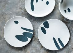 Porcelain Plate  Ceramic Plate  Cereal Plate  by susansimonini