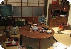 Old Japanese(Showa era)living room Japanese Buildings, Japanese Architecture, Interior Architecture, Interior Design, Japanese Interior, Japanese Design, H Design, House Design, Japanese Apartment