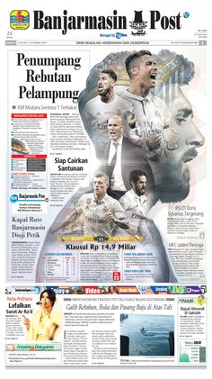 Two Hot News Combined into one page. KM Sentosa Ship was on fire and Real Madrid last match to win La Liga Trophy.