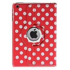 Lovely 360° Rotating Polka Dot Series Full Body Case with Stand for iPad Air 2