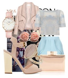 """""""Blue and pink style"""" by nadina-2001 ❤ liked on Polyvore featuring Burton, Elie Saab, Zizzi, Temperley London, Giuseppe Zanotti, Topshop and CLUSE"""