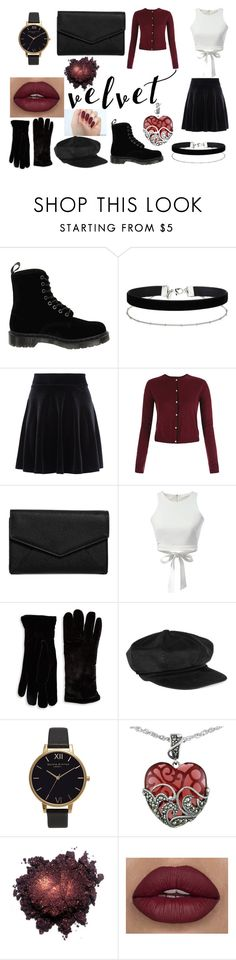"""Summer to Fall Velvet"" by gothicvamperstein ❤ liked on Polyvore featuring Dr. Martens, Miss Selfridge, New Look, LULUS, Cejon, Tomas Maier, Olivia Burton, Lord & Taylor, Fall and outfit"